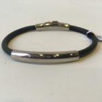 Armband leer zwart | Priddy