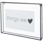 Fotolijst glas met metalen rand L