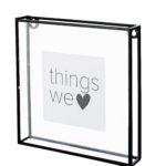 Fotolijst glas met metalen rand square