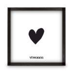 Zwarte houten fotolijst 30x30x4 | Vtwonen