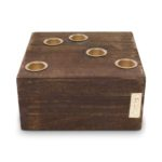 Vierkante houten kaarsenstandaard | Vtwonen