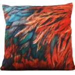 Velours kussen Feathers | Home Junky