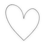 Wandornament metalen hart zwart | vtwonen