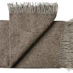 Wollen plaid Fanø bruin 140×240 | Silkeborg