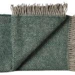 Wollen plaid Fanø groen 140×240 | Silkeborg