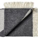 Wollen plaid Focus on Twill grijs 130×190 | Silkeborg