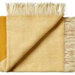 Wollen plaid Focus on Twill geel 130×190 | Silkeborg