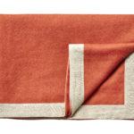 Wollen plaid Mendoza oranje 130×180 | Silkeborg