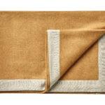 Wollen plaid Mendoza okergeel 130×180 | Silkeborg