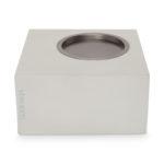 Houten kaarsenstandaard vierkant grijs | Vtwonen