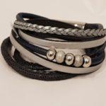 Armband grijs/blauw | Priddy