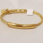 Armband staal goud | Priddy