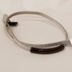 Armband staal zilver/zwart | Priddy