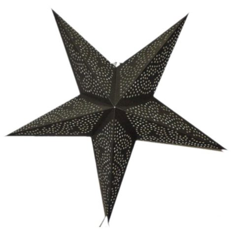 ster 5-punts zwart