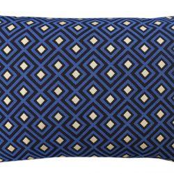 252 pillow jaquard square blue gold 60x40